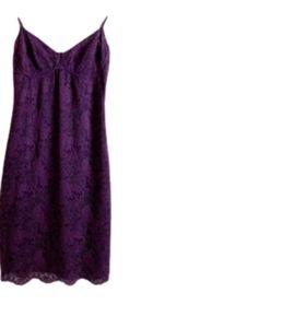 Aritzia Wilfred Juliette Bustier purple Lace Dress